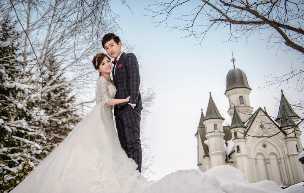 崴澤&佩汶 北海道雪地婚紗 Pre-Wedding  海外婚紗拍攝